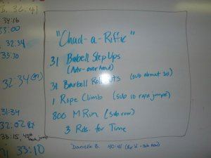 Crossfit workout Trident Del Ray